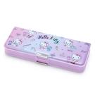 【震撼精品百貨】Hello Kitty 凱蒂貓~三麗鷗 KITTY 雙面硬盒鉛筆盒-紫甜點#65167
