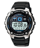 CASIO卡西歐AE-2000W-1A電子錶 藍黑配色 黑色橡膠 45mm 男錶 時間玩家 AE-2000W-1AVDF 照明功能