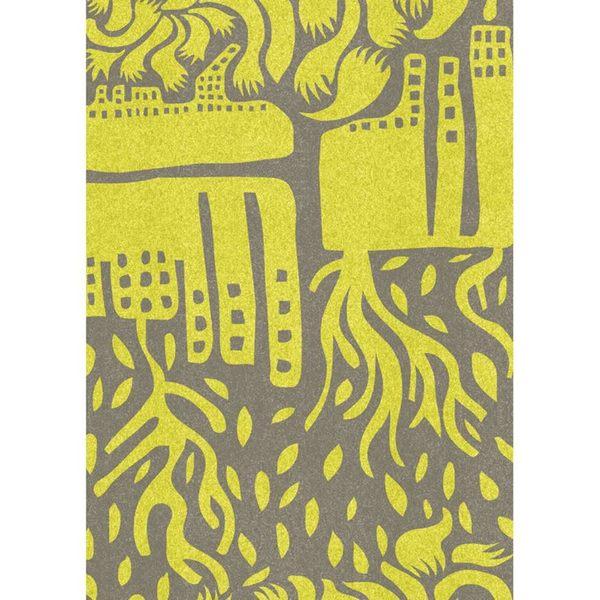 【摩達客】西班牙知名插畫家Judy Kaufmann藝術創作海報掛畫裝飾畫-世界 (附Judy本人簽名)(含木框)