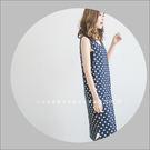 洋裝  極簡百搭點點印花背心棉質洋裝 外流原單  二色-小C館日系