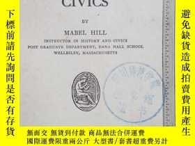 二手書博民逛書店THE罕見TEACHING OF CIVICS(公民教育)191