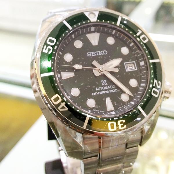 [萬年鐘錶] SEIKO PROSPEX 200米潛水 機械錶  綠水鬼錶面  不鏽鋼 大錶徑 45mm 6R35-00A0G / SPB103J1