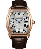AEROWATCH Streamline 經典酒桶造型腕錶-銀x玫瑰金框/35mm A42959RO03