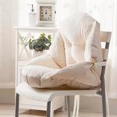 一體椅墊 家用椅墊坐墊靠墊一體學生宿舍座椅子靠背辦公室久坐腰靠墊子護腰