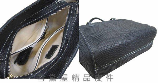 ~雪黛屋~ITALI-DUCK手提包100%牛皮革壓紋手提肩背斜側背MIT製品質保證ID-6171