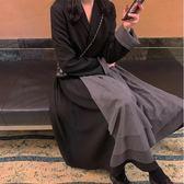中大尺碼大碼初秋超仙長款連衣裙洋氣減齡胖妹妹顯瘦心機套裝3F057.9605皇潮天下