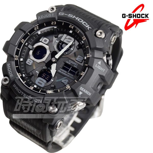 G-SHOCK MUDMASTER GSG-100-1A 防塵防污高效能太陽能男錶 黑 防水手錶 GSG-100-1ADR CASIO卡西歐