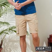 【JEEP】經典造型口袋短褲-卡其