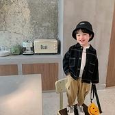 男童外套 兒童外套男童個性帥氣寶寶秋裝翻領夾克衫男孩休閒上衣-Milano米蘭