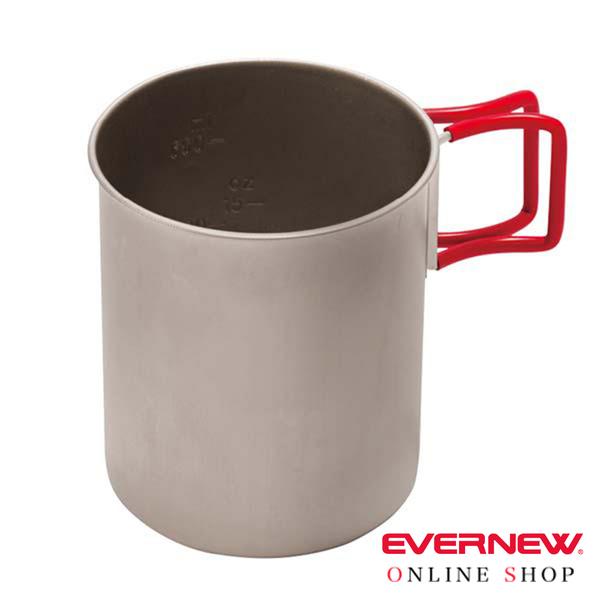 【EVERNEW】鈦金杯 760ml『紅』超輕0.3系列 BY270 露營 戶外 野餐 鍋具 炊具 鈦合金