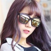 墨鏡 環繞鉚釘炫彩方框抗UV太陽眼鏡(九色)【CE2116】