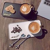 創意陶瓷杯子辦公室水杯咖啡杯簡約情侶杯牛奶杯帶勺馬克杯早餐杯 LR3304【VIKI菈菈】