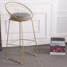 北歐鐵藝吧台椅創意吧凳家用凳高腳凳服裝店...