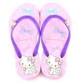 童鞋城堡- Charmmy Kitty 親子款 浪漫風格夾腳拖CK2717-紫
