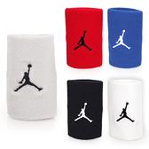 NIKE Jordan Jumpman單色腕帶(飛人喬登 籃球 NBA 護腕 一雙入  ≡排汗專家≡
