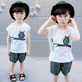 兒童夏裝套裝新款韓版小童寶寶夏季兩件套潮 sxx2618 【大尺碼女王】