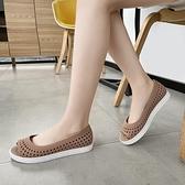 魚口鞋 新款百搭女涼鞋魚口塑料防滑耐磨女鞋厚底楔形護士鞋鏤空工作鞋-Ballet朵朵