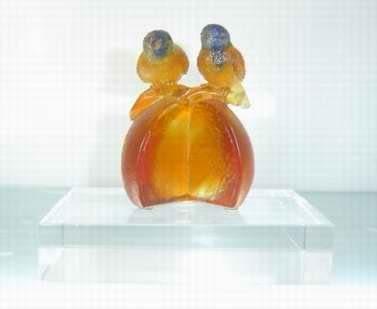 情人節送禮 新婚好禮 情濃愛意 精致琉璃 喜鵲擺設琉璃擺件
