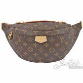 Louis Vuitton LV M43644 經典花紋皮飾邊腰包/胸口包 全新 現貨【茱麗葉精品】