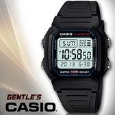 CASIO手錶專賣店 卡西歐  W-800H W-800HG 男錶 數字型 防水100米 LED照明 塑膠錶帶(有兩色)