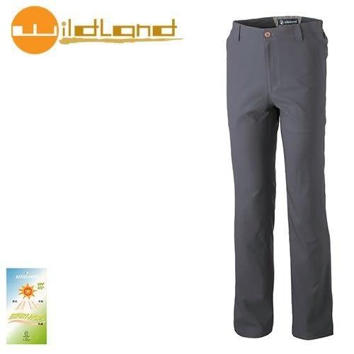 丹大戶外【Wildland】荒野 男款 日本紗彈性抗UV長褲 0A31306-96 深鐵灰