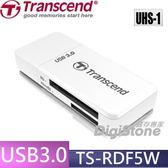 ◆免運費◆加贈記憶卡SD收納盒◆創見 F5 TS-RDF5W USB3.0 多功能讀卡機(白)X1◆最大支援 UHS-1 128GB◆