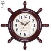 創意鐘表掛鐘客廳靜音歐式舵手復古地中海兒童房石英鐘掛表 莎瓦迪卡