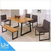 北歐工業風威爾斯5尺全實木面餐桌(18I20/A442-04)