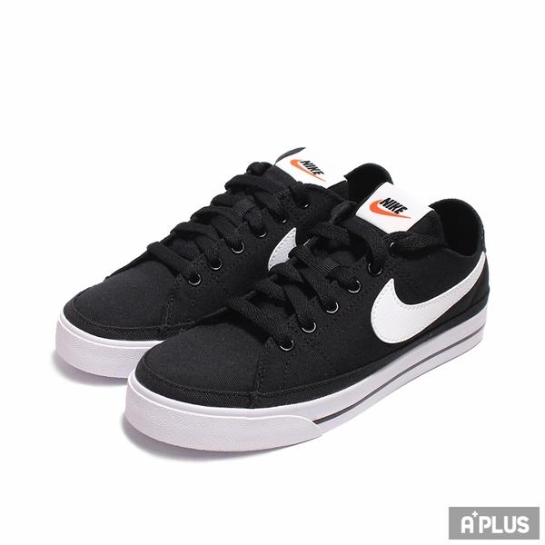 NIKE 女休閒鞋 WMNS NIKE COURT LEGACY CNVS 低筒 黑白-CZ0294001