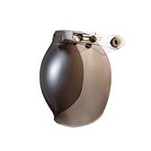 三扣泡泡鏡片,三釦式安全帽通用~銅製黃金色釦鐶PP風鏡(電鍍)