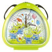 〔小禮堂〕迪士尼 三眼怪 三角型鬧鐘《綠.夾娃娃》桌鐘.時鐘.精緻盒裝 4548626-08178