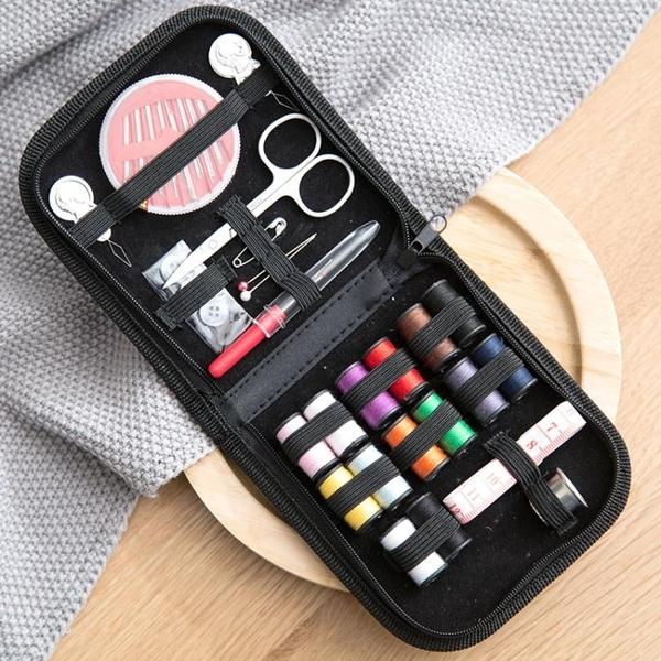 便攜針線盒10件套裝手工縫紉家用針線縫補配件輔料工具手縫針線包 夏季狂歡