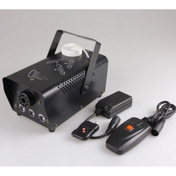 變色煙霧機舞檯燈光遙控線控舞台煙機500W LED三色舞台噴霧發生器 優化版