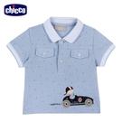 chicco- 快樂賽車手-點點POLO短袖上衣