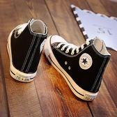 帆布鞋(休閒鞋) 經典百搭款高筒帆布鞋女