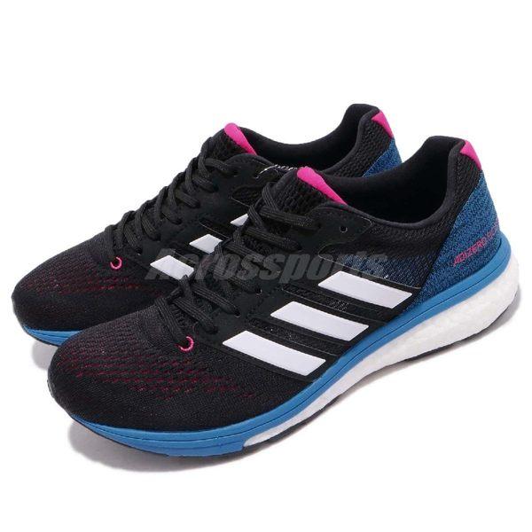 adidas 慢跑鞋 Adizero Boston 7 W 黑 藍 BOOST 中底 女鞋 運動鞋 【PUMP306】 BB6501