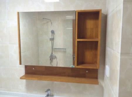 【衛浴先生】橡木浴室 鏡櫃 CO22 尺寸:600*130*770mm