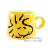 〔小禮堂〕史努比 寶特瓶專用杯蓋《黃.糊塗塔克.大臉.140ml》 4973307-37326