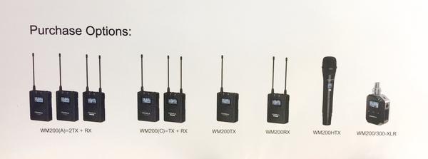 COMICA CVM-WM200A WM200A 全指向領夾式金屬無線麥克風【 (一對二)】