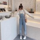 吊帶褲女韓版寬鬆網紅森女系可愛新款春季減齡小個子顯瘦牛仔 極簡雜貨