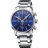 Calvin Klein CK City 都會紳士計時手錶-藍/43mm K2G2714N