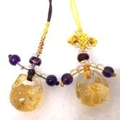 『晶鑽水晶』天然黃水晶招財吊飾~可愛木魚造型