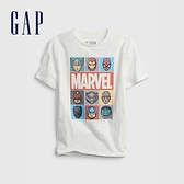 Gap男童 Gap x Marvel 漫威系列純棉短袖T恤 689819-白色
