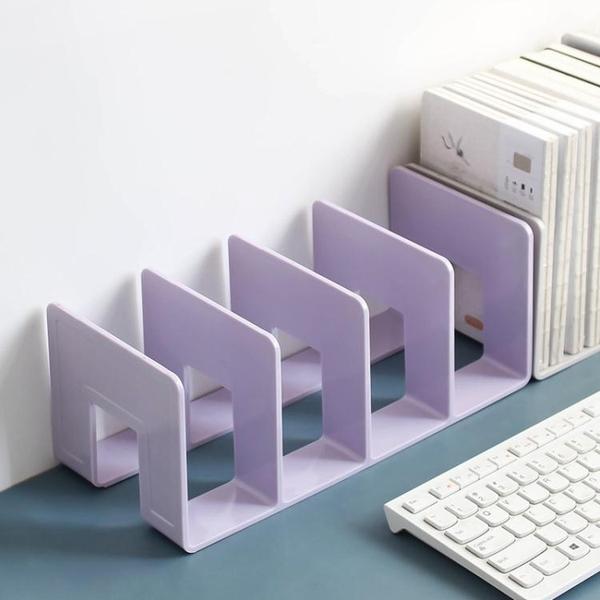 北歐莫蘭迪亞克力書立 透明書架分隔創意ins桌面收納書擋書夾書靠 嬡孕哺