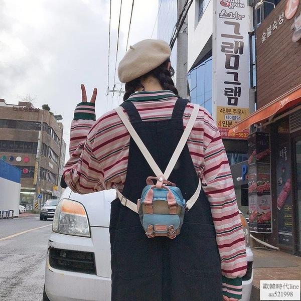 韓版甜甜圈單肩側背包學生可愛少女百搭小包包防水蹦迪包歐韓時代