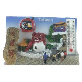 【收藏天地】台灣紀念品*溫度計冰箱貼-日月潭