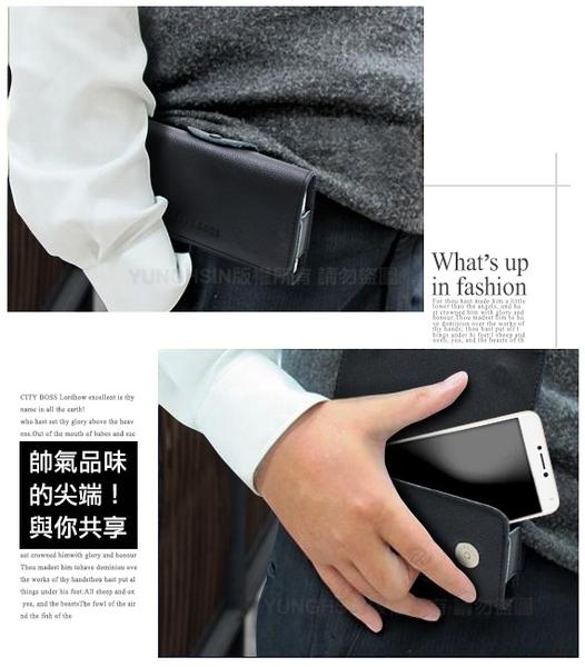 CITY for ZenFone MAX Pro ZB602KL 精品真皮橫式腰掛皮套