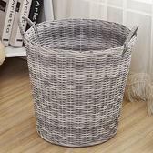 大號塑料編織筐浴室收納籃玩具臟衣服收納筐臟衣簍籃igo  韓風物語
