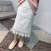 蕾絲裙(長裙)-針織拼接高腰雙面穿女裙子3色73xg29【時尚巴黎】