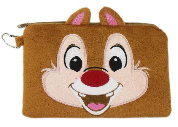 【卡漫城】 奇奇蒂蒂 Dale 絨毛 化妝包 筆袋 萬用包 收納袋 化妝袋 雙層 拉鍊 花栗鼠